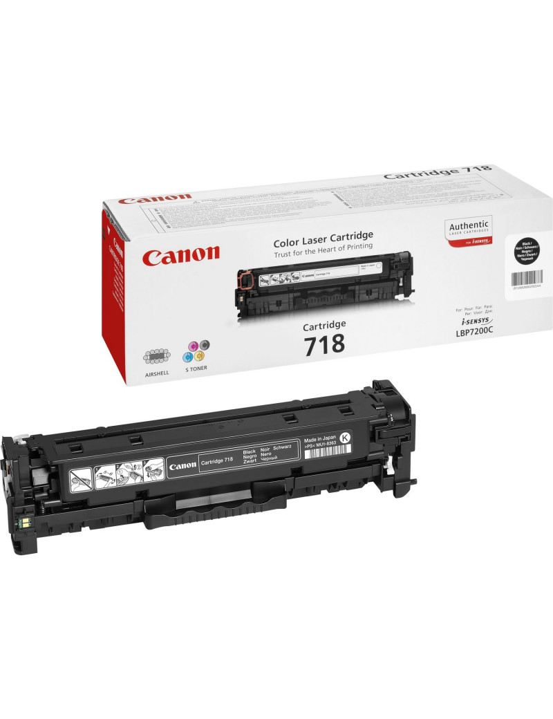 Toner Originale Canon 718bk 2662B002 (Nero 3400 pagine)