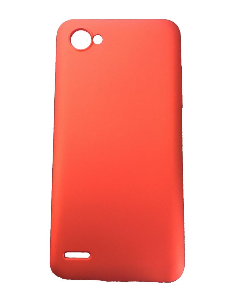 Cover in Silicone Morbido Brio Case per LG Q6 (Rosso Metallizzato)