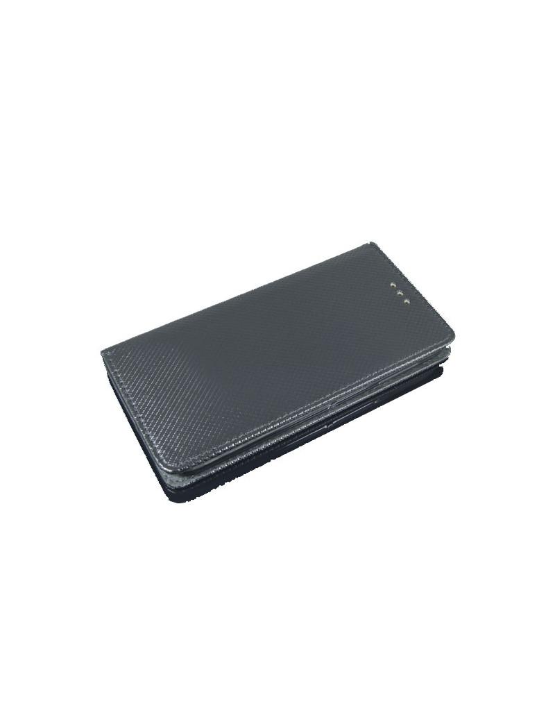 Cover Flip Portafoglio Orizzontale per Huawei P8 Lite P9 Lite (Nero)