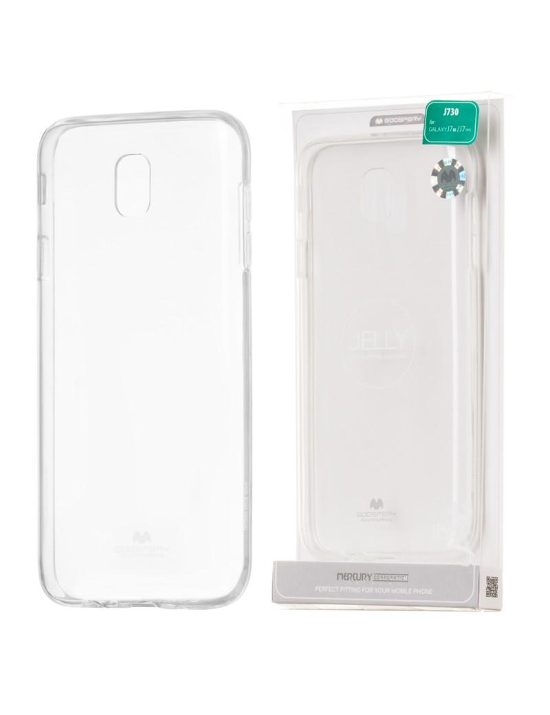 Cover in Silicone Morbido per Samsung Galaxy J7 (Trasparente)
