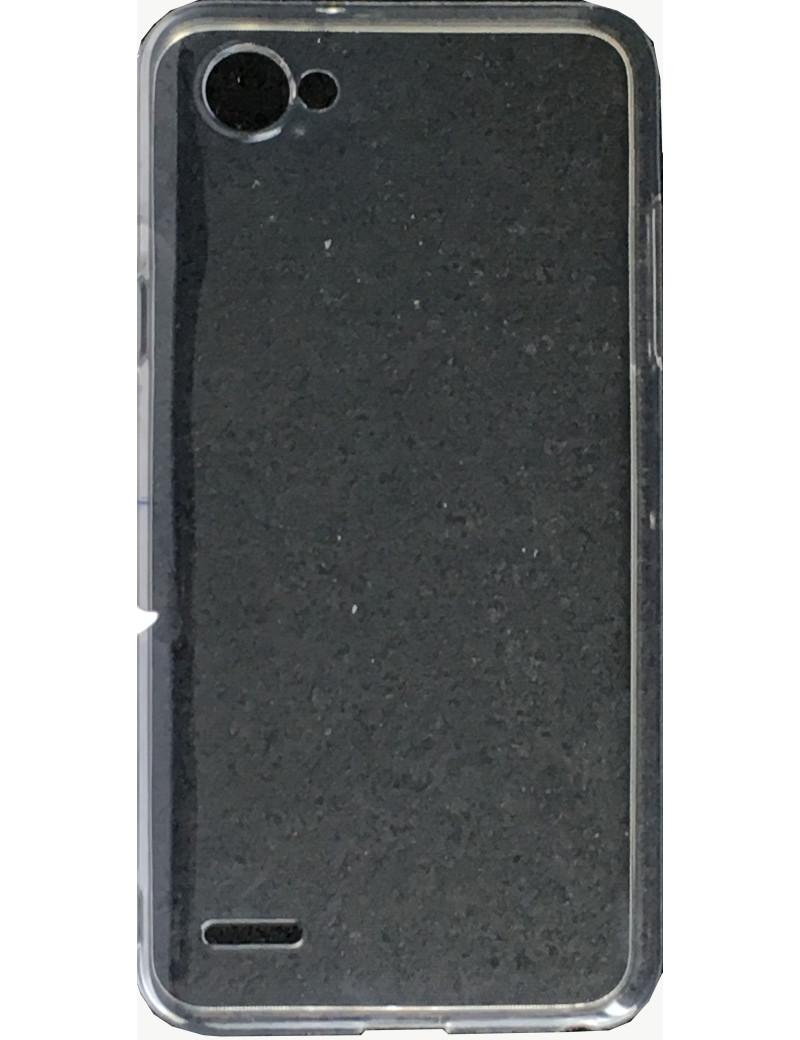 Cover in Silicone Morbido Brio Case per LG Q6 (Trasparente)