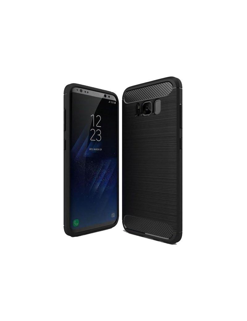 Cover Effetto Carbon Look per Samsung Galaxy S8+ (Blu Scuro)