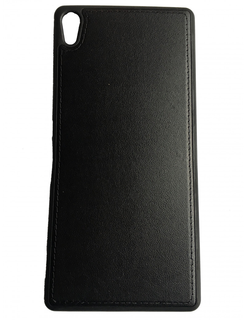 Cover in TPU Effetto Ecopelle Bora Case per Sony Xperia XA Ultra (Nero)