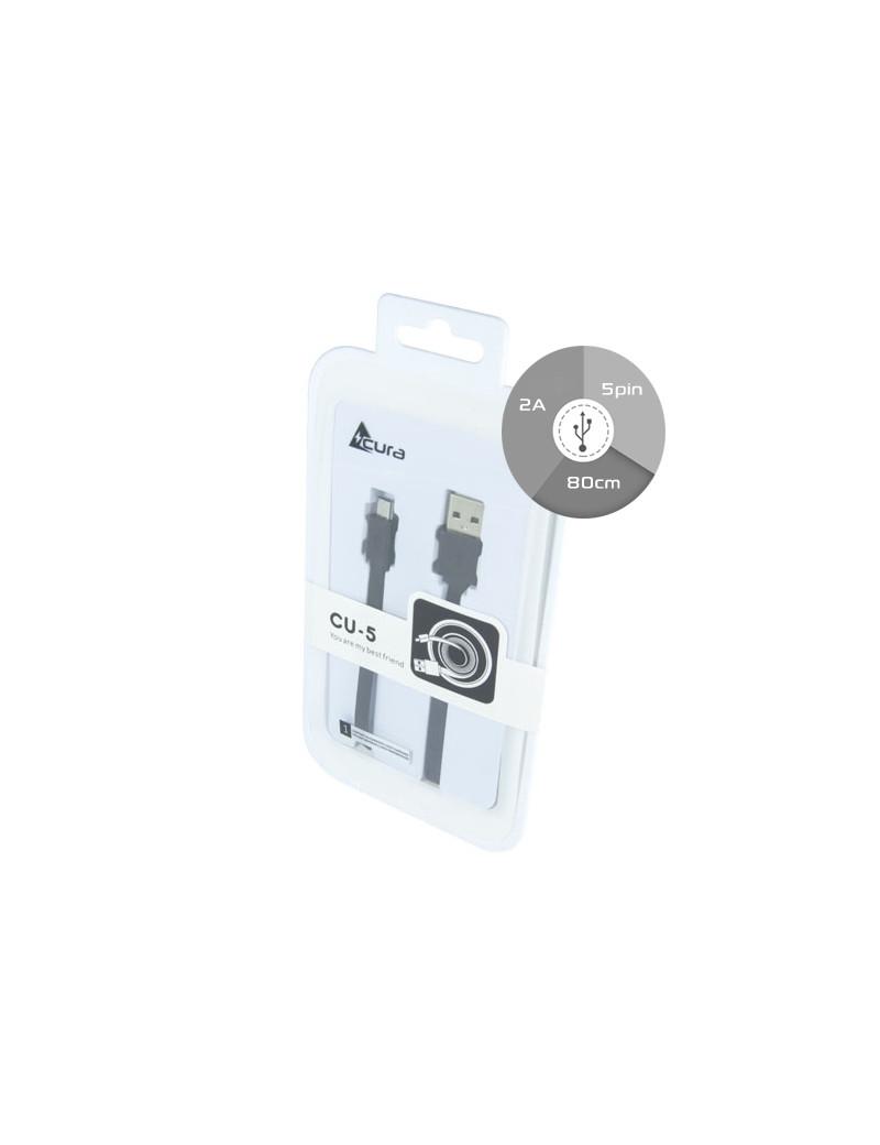 Cavo Dati Micro USB Piatto (Nero)