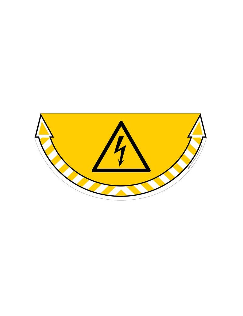 Adesivo Segnalatore CEP - Rischio Elettrico