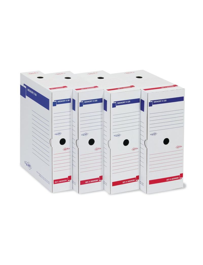 Scatola Archivio Memory X 80 - Dorso 8 - 25x35 cm (Bianco)