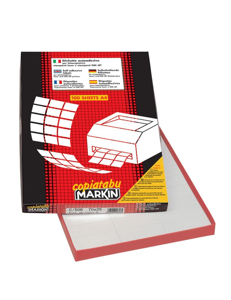 Etichette Multiuso Markin - A4 - 37x14 mm - X210A401 (Bianco Conf. 100)