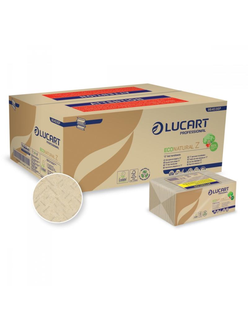 Asciugamani a Z Eco Natural Lucart - 2 Veli - 220 Fogli - 864036 (Conf. 18)
