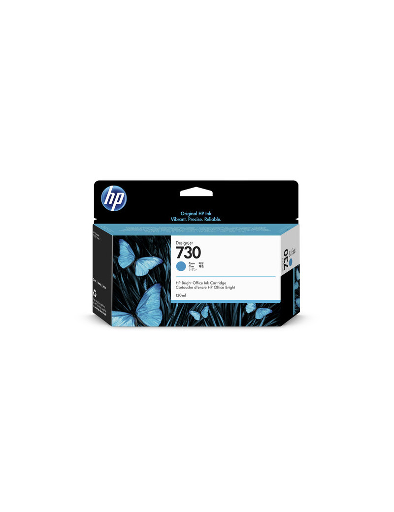 Cartuccia Originale HP P2V62A 730 (Ciano 130 ml)