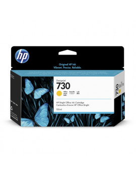 Cartuccia Originale HP P2V64A 730 (Giallo 130 ml)