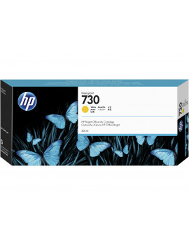 Cartuccia Originale HP P2V70A 730 (Giallo 300 ml)
