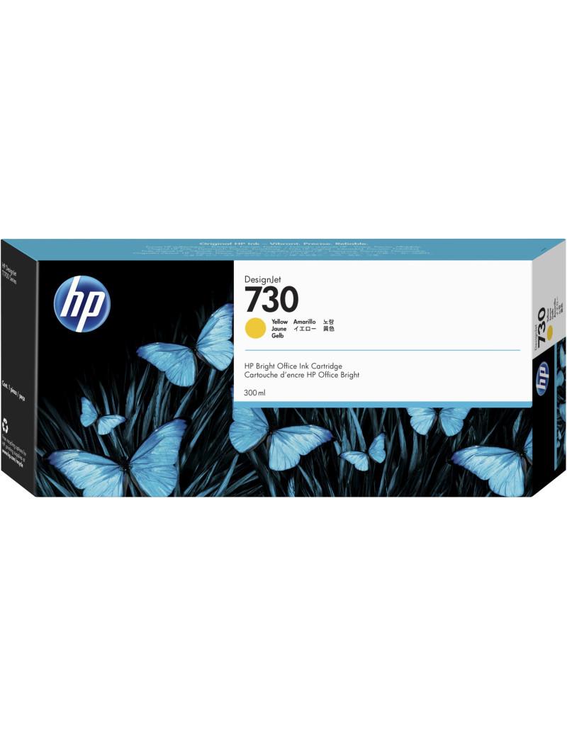 Cartuccia Originale HP P2V70A 730 (Giallo 300 ml)