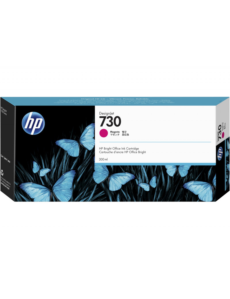 Cartuccia Originale HP P2V69A 730 (Magenta 300 ml)