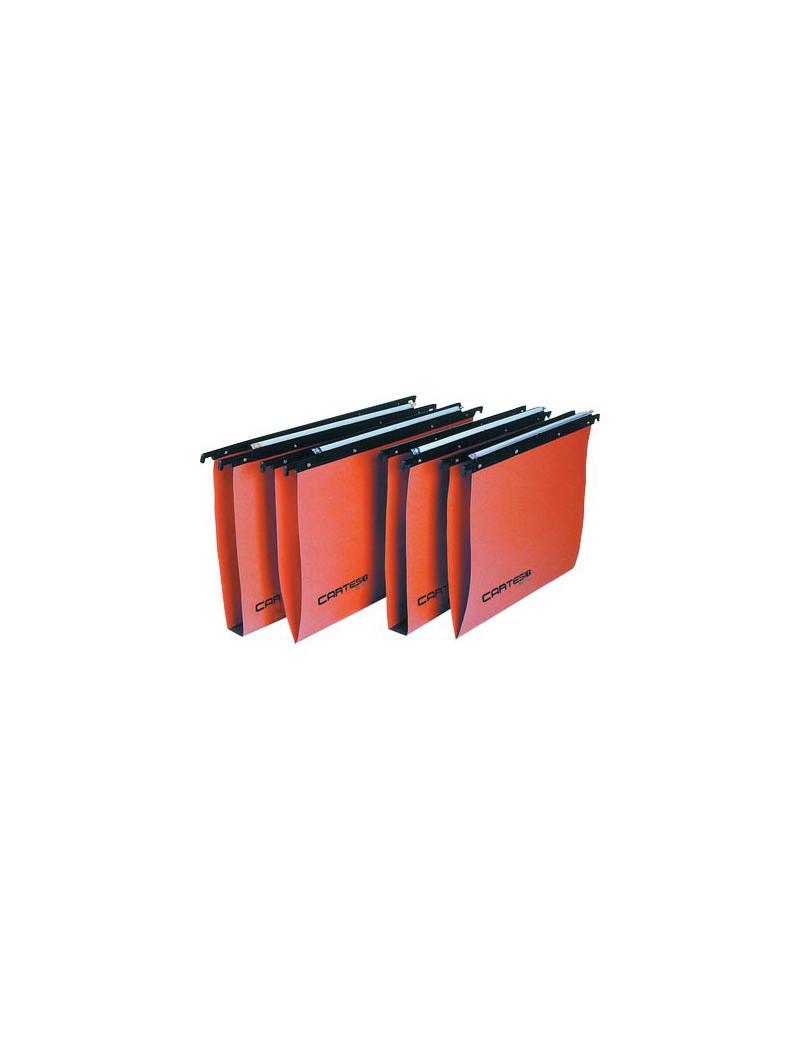 Cartelle Sospese Linea Cartesio Bertesi - Cassetto - 33÷33,8 cm - V - 100/330 (Arancio Conf. 50)