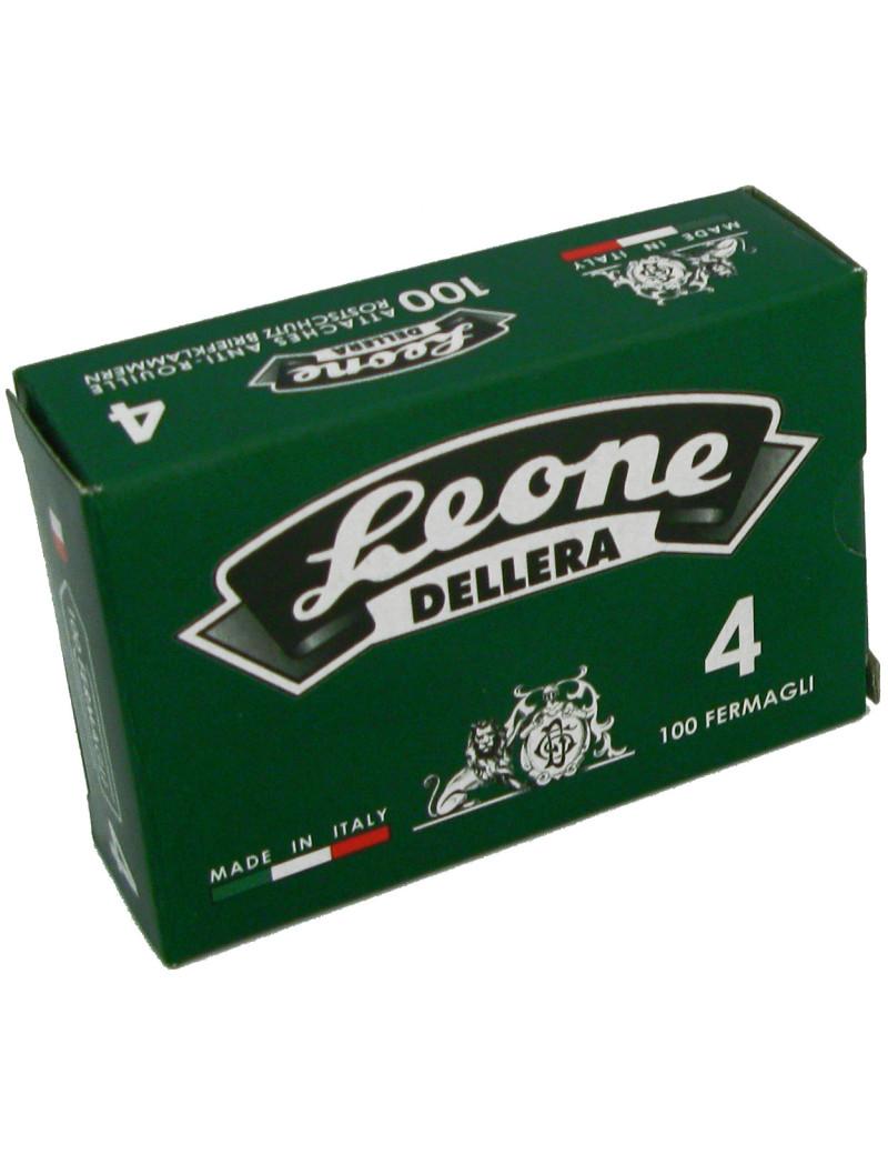 Fermagli Zincati Leone Dell'Era - Punte Triangolari - n. 4 - 32 mm - FZ4 (Zinco Brillante Conf. 1000)