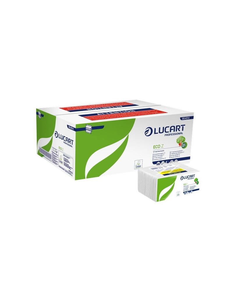 Asciugamani a Z Intercalati Lucart - Carta Ecologica - 2 Veli - 220 Fogli - 864014 (Conf. 18)