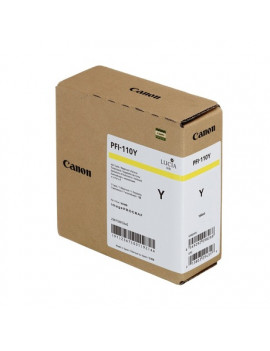 Cartuccia Originale Canon PFI-110y 2367C001 (Giallo 160 ml)