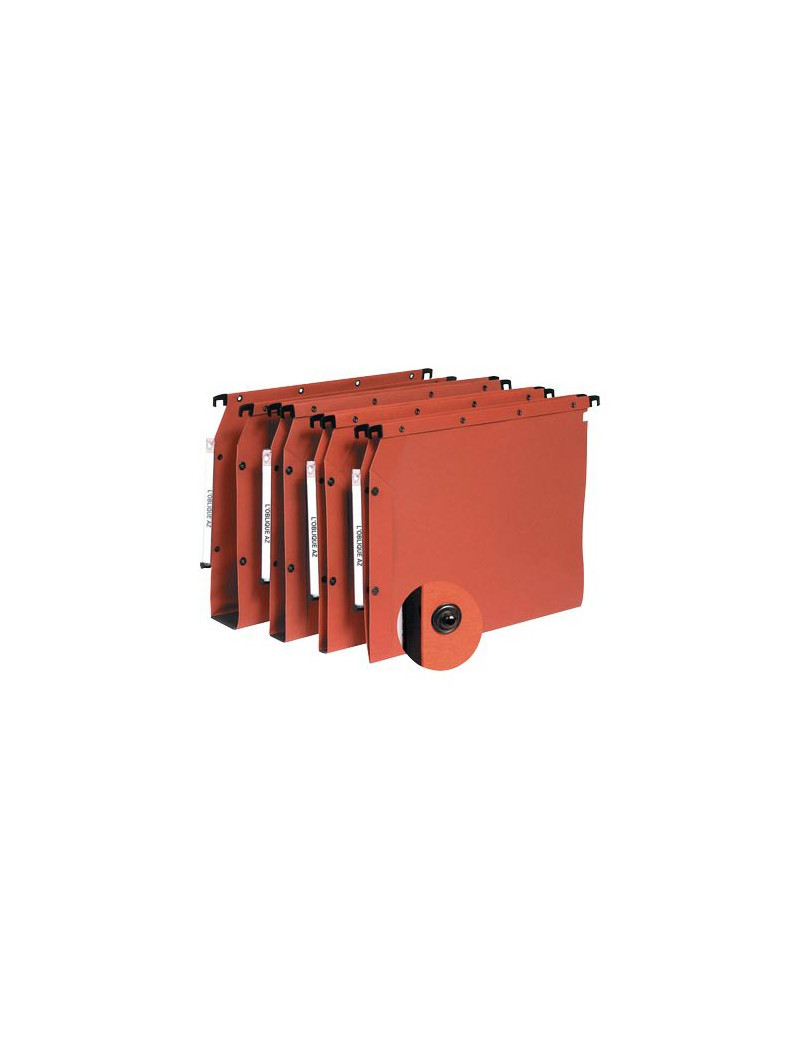 Cartelle Sospese L'Oblique AZ L'Oblique - Armadio - Interasse 33 cm - V - 32,5x27,5 cm (Arancio Conf. 25)