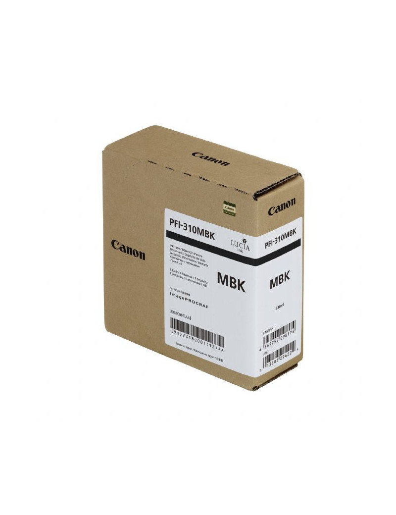 Cartuccia Originale Canon PFI-310mbk 2358C001 (Nero Opaco 330 ml)