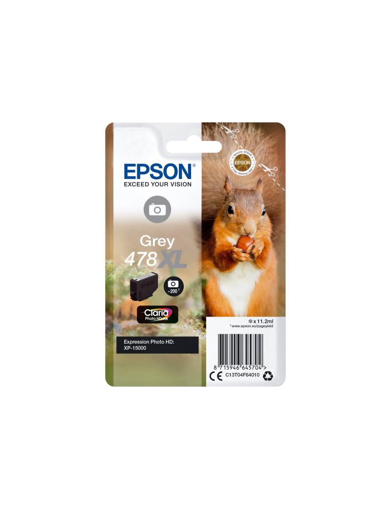 Cartuccia Originale Epson T04F640 478XL (Grigio Foto 830 pagine)