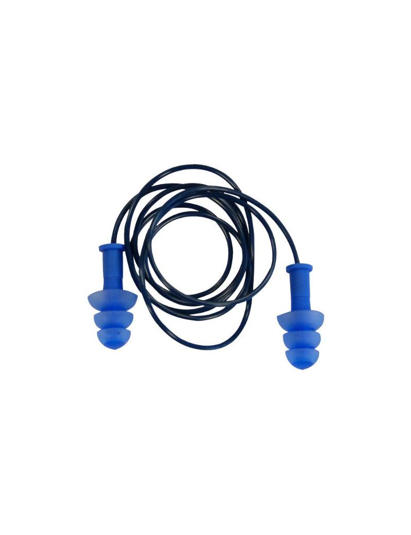 Inserti Auricolari ConicFire con Sacchetto Delta Plus (Blu Conf. 10)