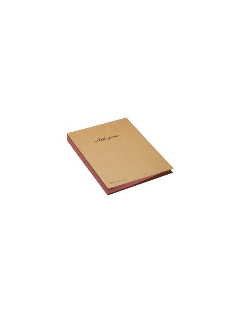 Libro Firma 18 Intercalari Riciclabile Fraschini - 22x34 cm - 618-ECO (Avana)