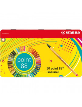 Fineliner Point 88 Stabilo - 0,4 mm - 8850-6 (Assortiti Conf. 50)