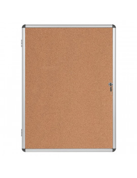 Bacheca in Sughero per Interni Earth-it Bi-Office - 4xA4 - 50x67 cm (Alluminio)