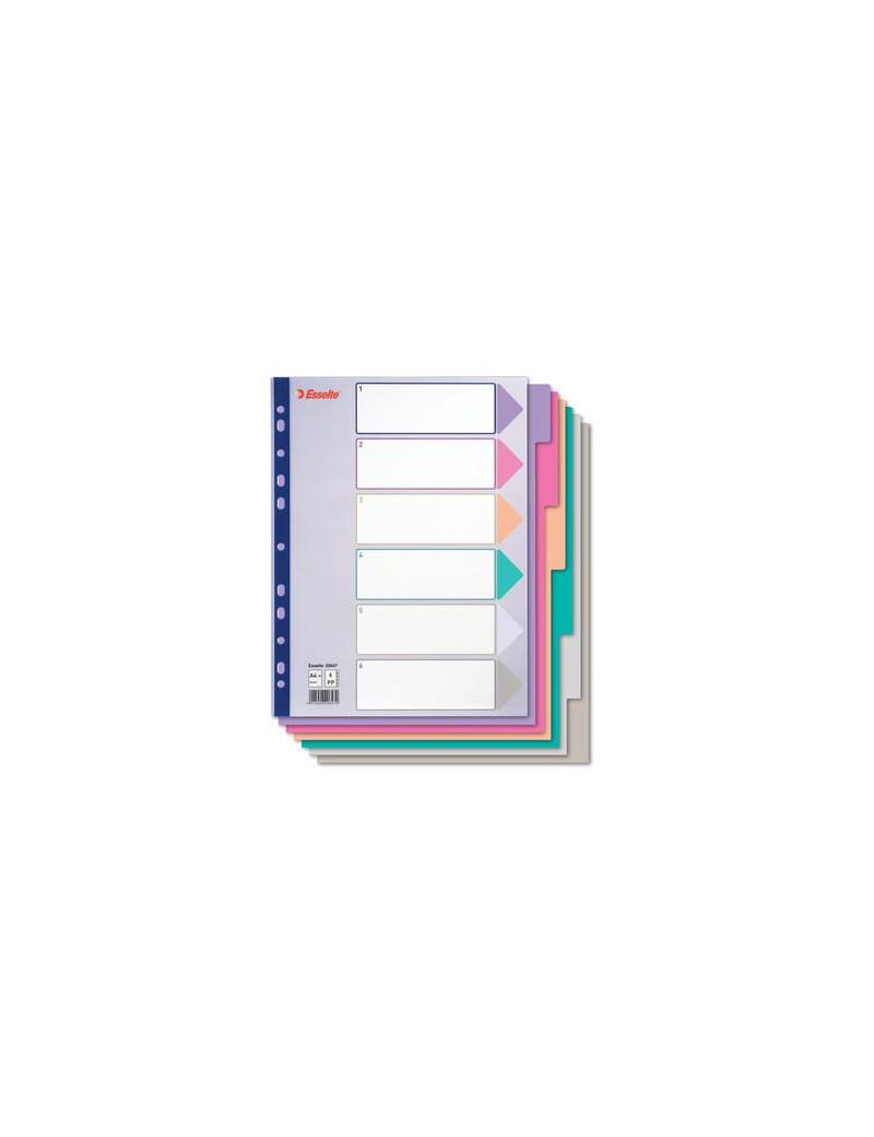 Intercalare in PPL Translucent Esselte - A4 Maxi - 6 Tasti - 20647 (Multicolore)