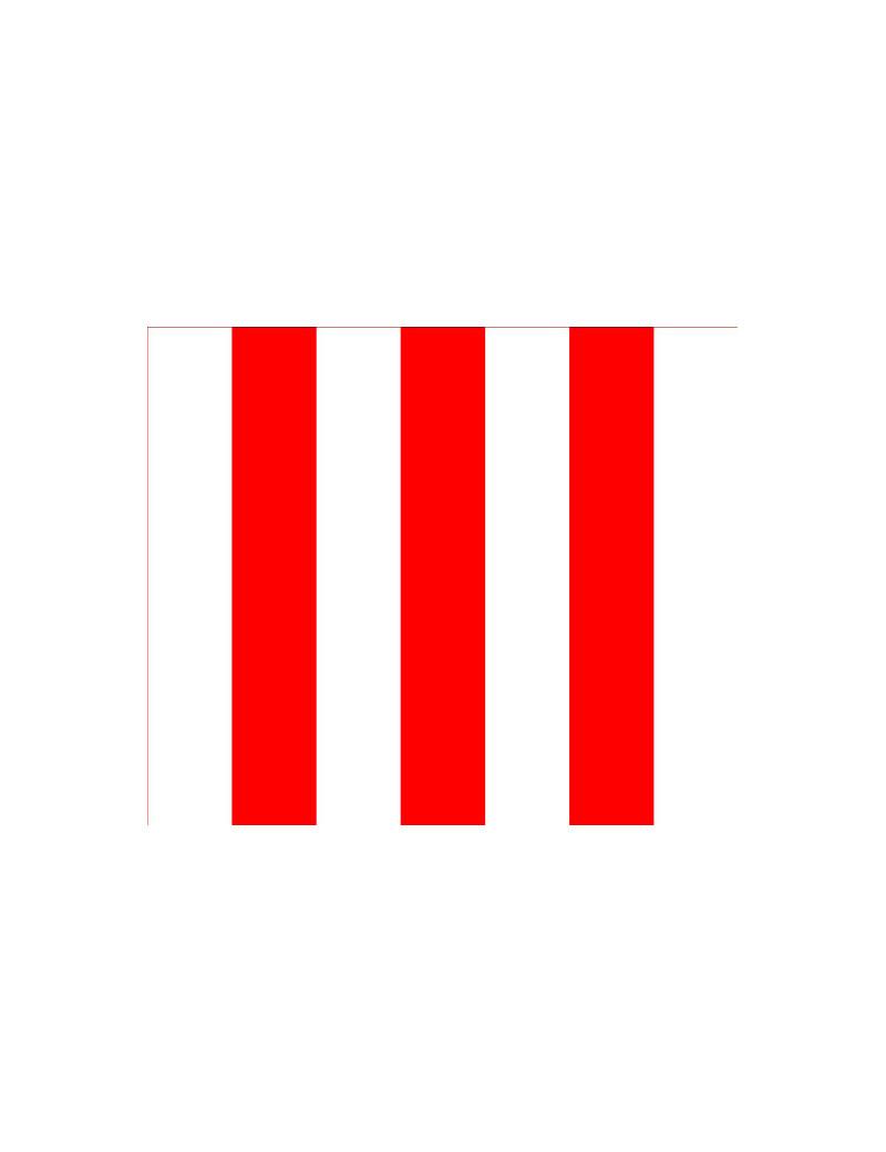 Bandiera a Strisce - 150x90 cm (Bianco e Rosso)