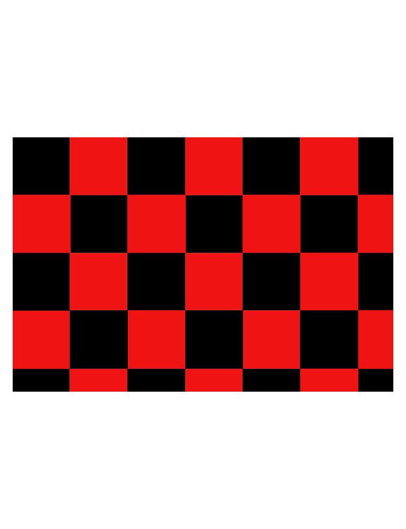 Bandiera a Scacchi - 150x90 cm (Rosso e Nero)