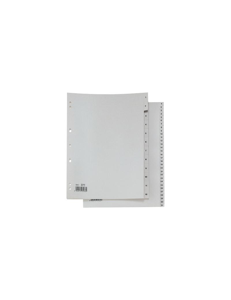 Separatori Numerici Record in PP Sei Rota - 12 Tasti - 581201 (Grigio)