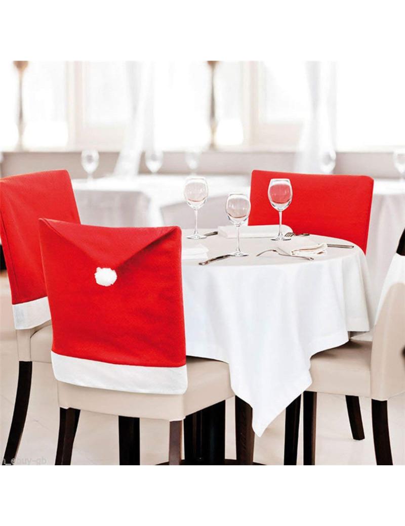 Coprisedia Natalizio (Bianco e Rosso)