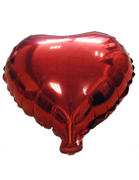Palloncino in Mylar - Ø45 cm (Cuore Rosso)