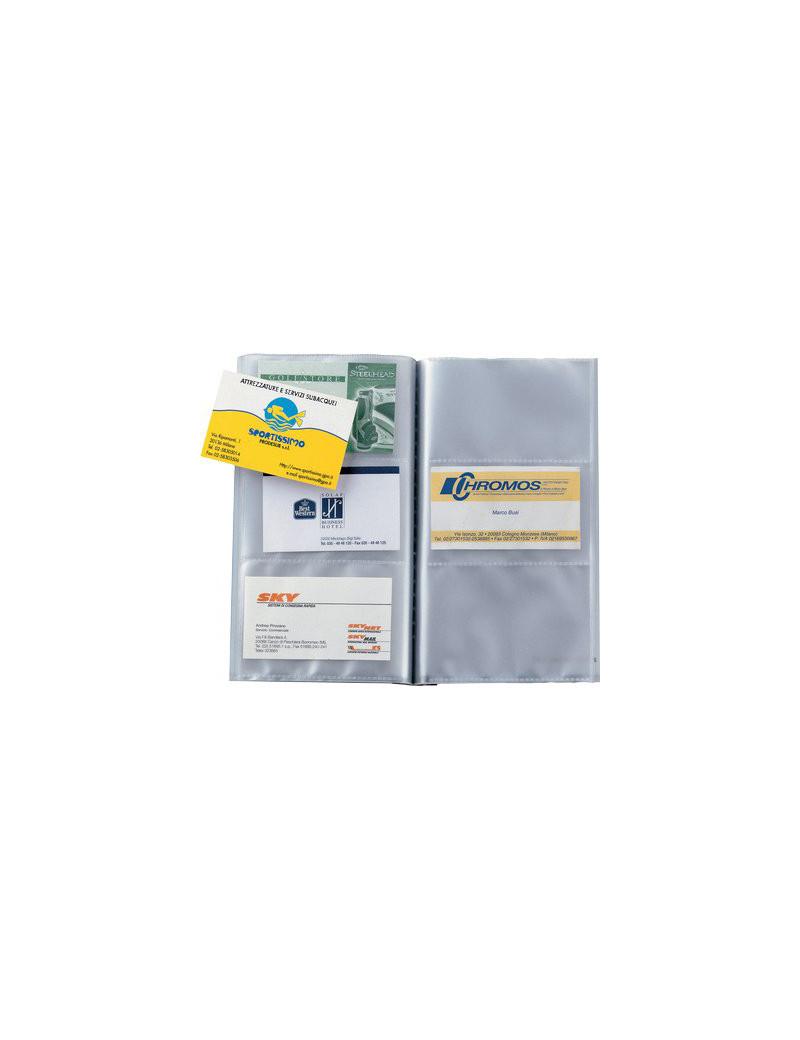 Portabiglietti da Visita Uno Visita TI Sei Rota - 90 Biglietti - 12x20 cm - 56601407 (Blu)
