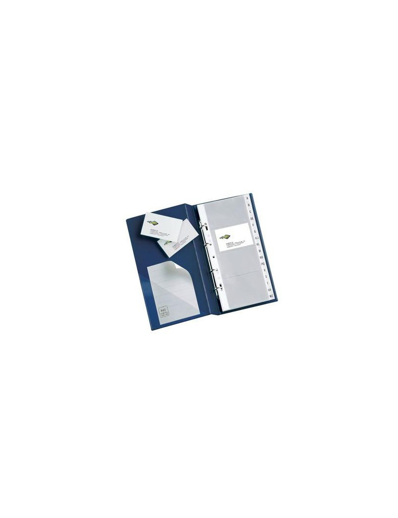 Portabiglietti da Visita MC30 Sei Rota - 3 Anelli - 320 Biglietti - 16,5x28 cm - 57093107 (Blu)