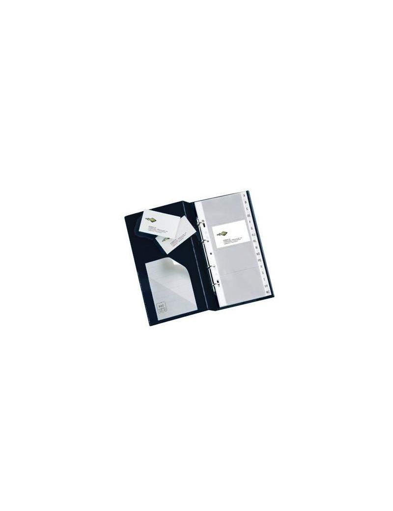 Portabiglietti da Visita MC30 Sei Rota - 3 Anelli - 320 Biglietti - 16,5x28 cm - 57093110 (Nero)