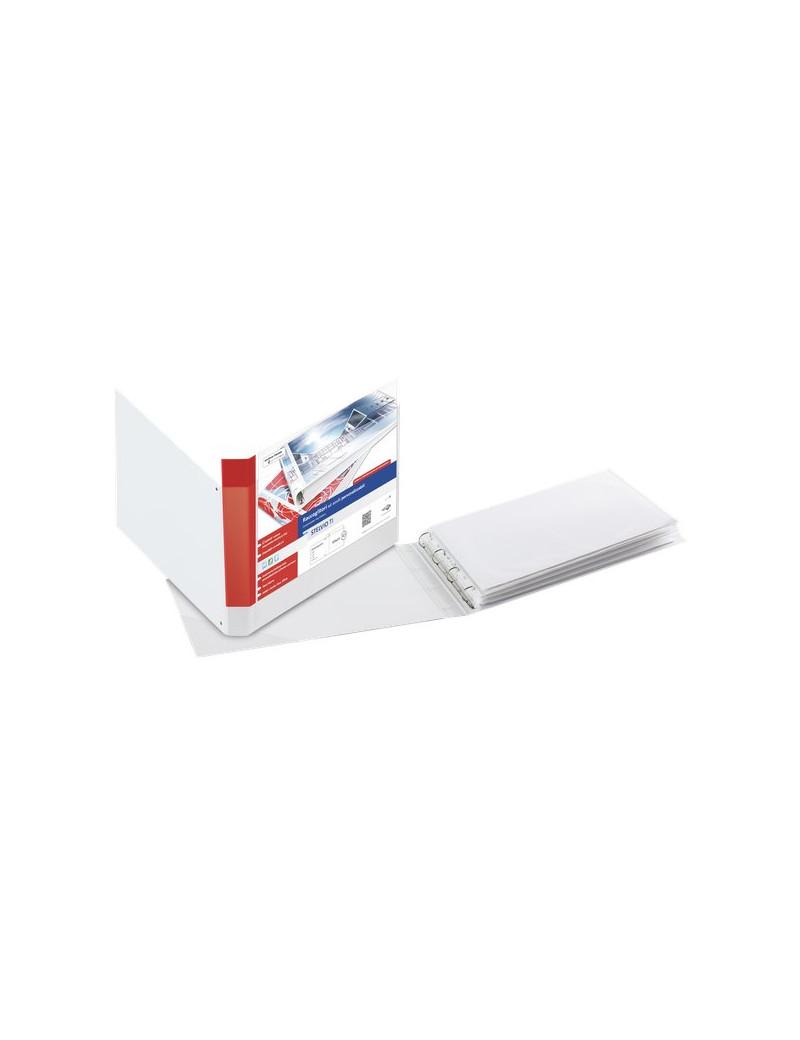 Raccoglitore Personalizzabile Stelvio TI Sei Rota - 4 Anelli D Ø50 mm - 42x30 cm - 365050 (Bianco)