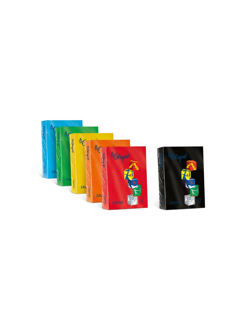 Carta Colorata Le Cirque Favini - A4 - 80 g - A71A504 (Nero Conf. 500)