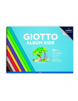 Album Kids A4 Giotto - Liscio - Carta Colorata - 580700