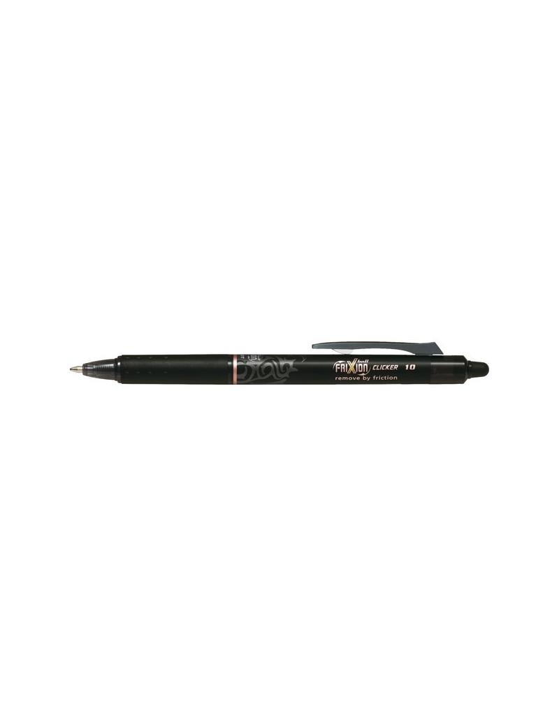 Penna a Sfera a Scatto Frixion Clicker Pilot - 1 mm - 006550 (Nero)