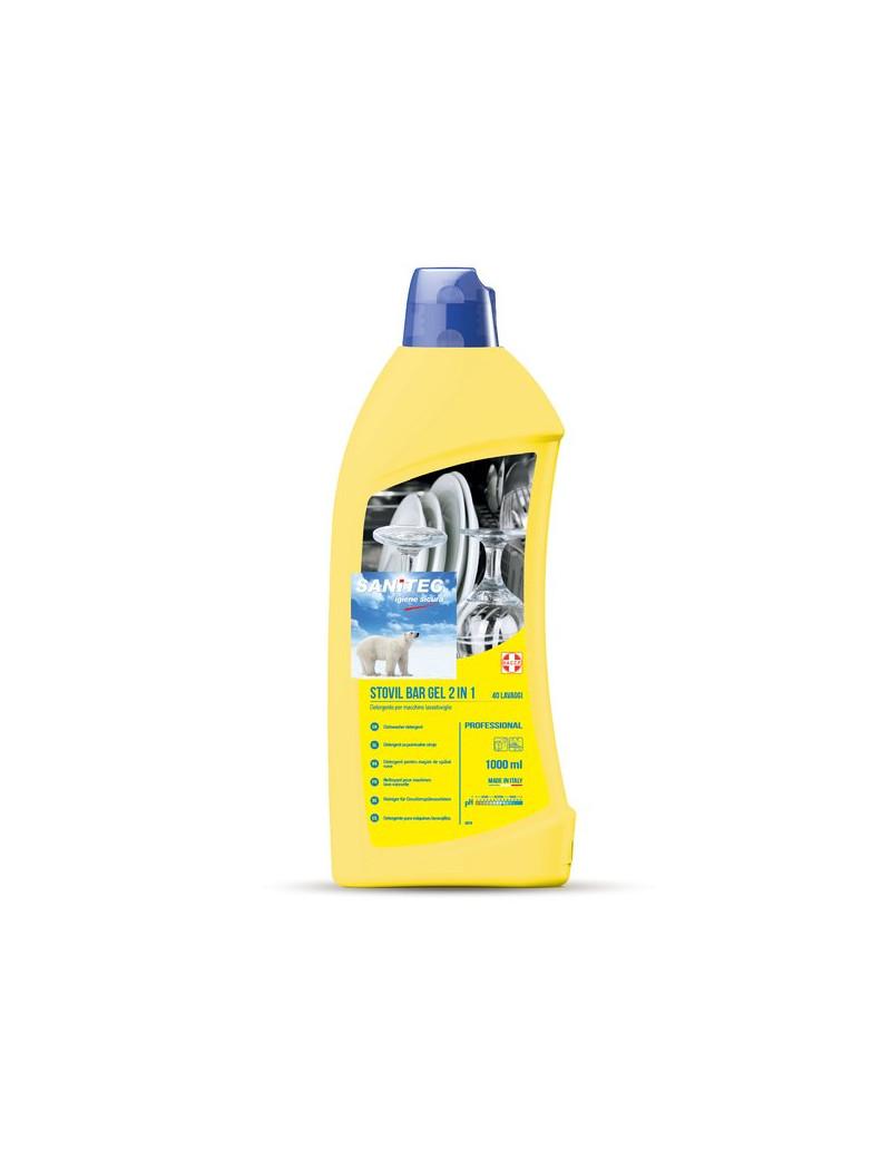 Detergente Gel con Brillantante per Lavastoviglie Sanitec - 1 Litro - 1161-S