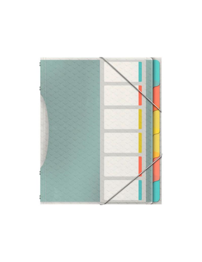 Classificatore Colour'Ice Esselte - 6 Divisori - 26,6x32 cm - 626255 (Multicolor)
