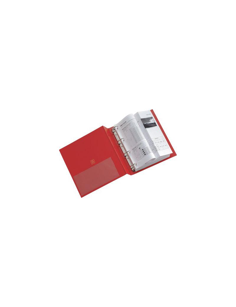 Raccoglitore Stelvio Sei Rota - A4 - 4 Anelli a D Ø50 mm - Dorso 8 cm - 36504012 (Rosso)