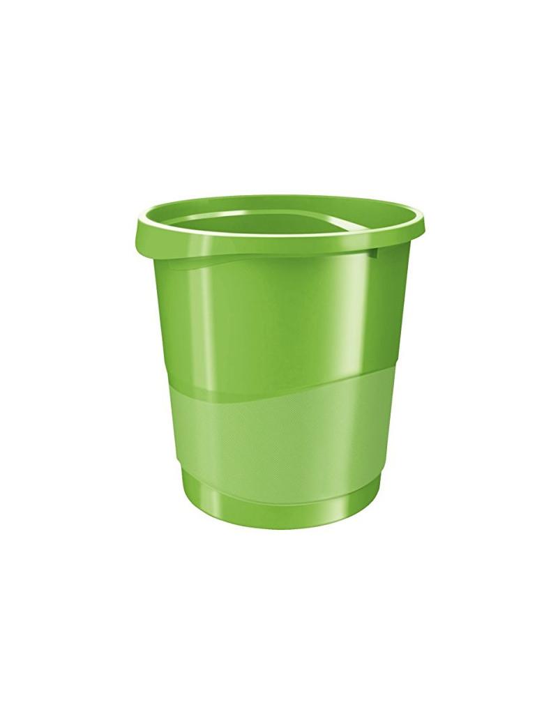 Cestino Gettacarte Europost Esselte - 14 Litri - 28,5x25,8x32,2 cm - 623947 (Verde)