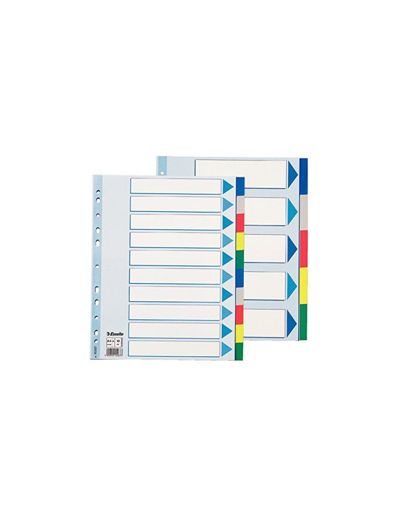 Rubrica Numerica in Mylar Esselte - A4 Maxi - 10 Tasti - 15267 (Multicolore)