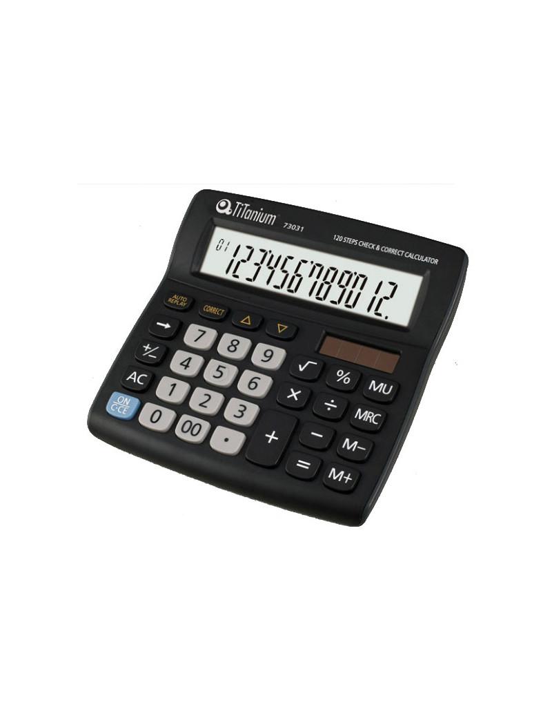 Calcolatrice da Tavolo Titanium 73031 - CD2706-12RP (Grigio)