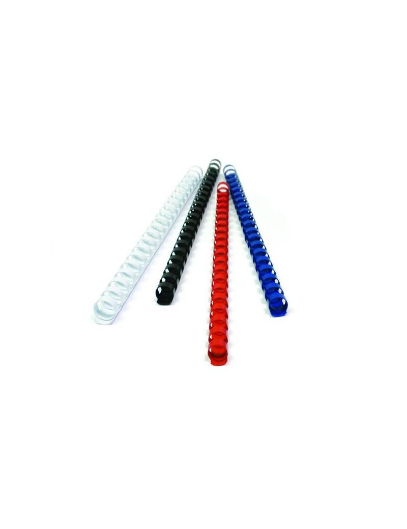 Dorsi Plastici 21 Anelli Titanium - 12 mm - 80 Fogli - PB412-04T (Blu Conf. 100)