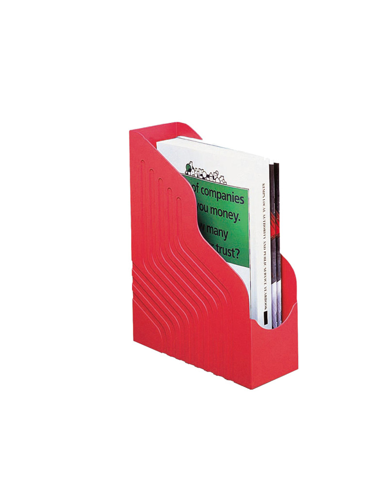 Portariviste Magazine Rack Jumbo Rexel - 10x25x32 cm - 00049111 (Rosso)