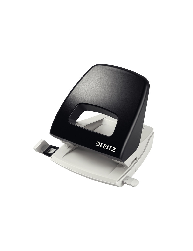 Perforatore a 2 Fori 5005 Metal Rim Leitz - 25 Fogli - 50050395 (Nero)